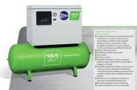 Piestový PROFI priemyselný kompresor ESOair SolidBase 540-10 silent, 540 l/min, 3 kw, vzdušník 270 litrov